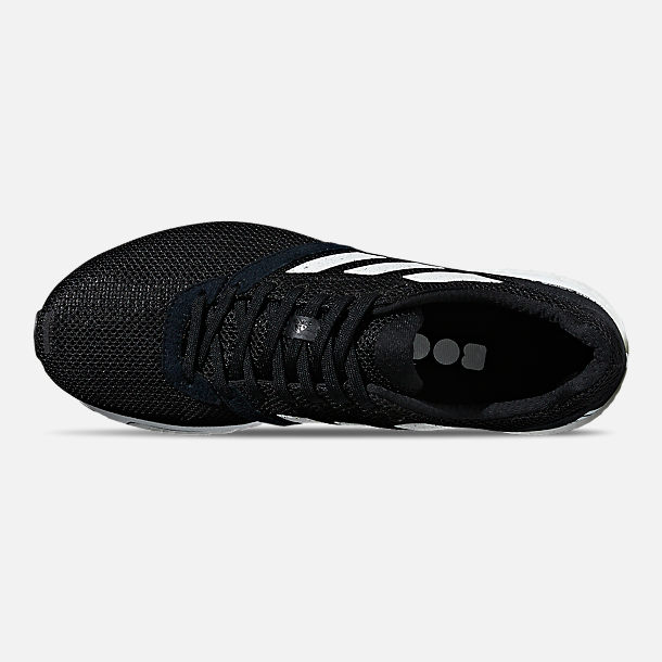 Top view of Men's adidas adizero Adios 4 Running Shoes in Core Black/Cloud White/Core Black