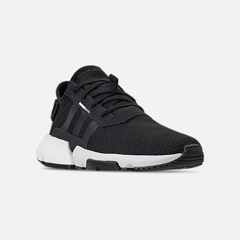 Three Quarter view of Men's adidas Originals POD-S3.1 Casual Shoes in Core Black/Footwear White