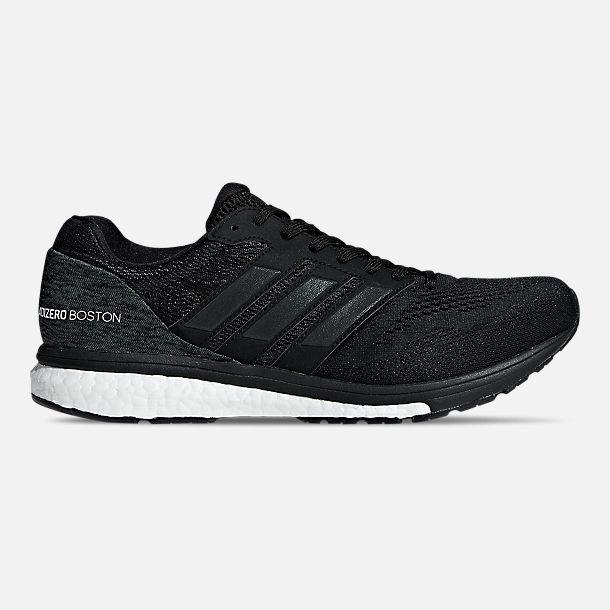 d2db97a6cda813 Right view of Men s adidas adiZero Boston 7 Running Shoes in Core  Black Cloud White