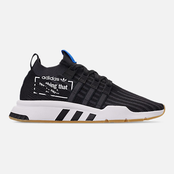 746d97394ddd Right view of Men s adidas Originals EQT Support Mid ADV Casual Shoes in  Core Black