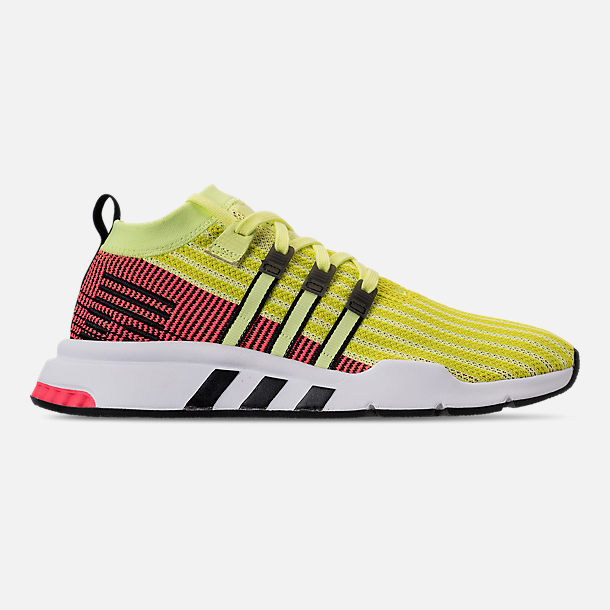 Right view of Men's adidas Originals EQT Support Mid ADV Casual Shoes in Glow/Core Black/Turbo
