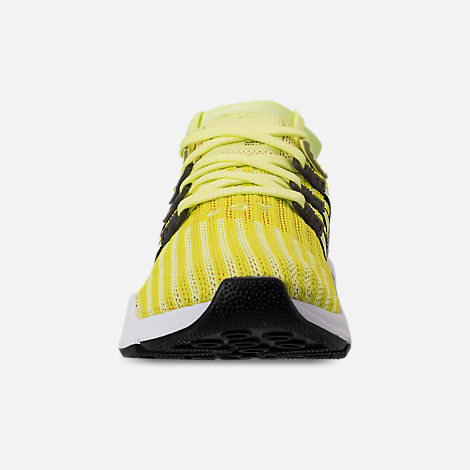Front view of Men's adidas Originals EQT Support Mid ADV Casual Shoes in Glow/Core Black/Turbo
