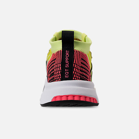 Back view of Men's adidas Originals EQT Support Mid ADV Casual Shoes in Glow/Core Black/Turbo