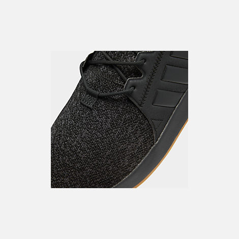 Front view of Men s adidas Originals X PLR Casual Shoes in Core Black Gum 5c44122d3