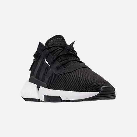 Three Quarter view of Women's adidas Originals POD-S3.1 Casual Shoes in Core Black/Core Black/White