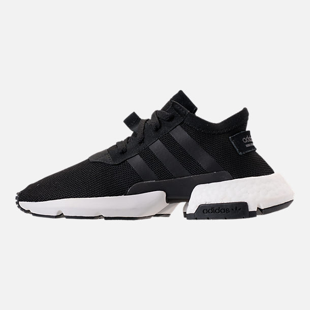 Left view of Women's adidas Originals POD-S3.1 Casual Shoes in Core Black/Core Black/White