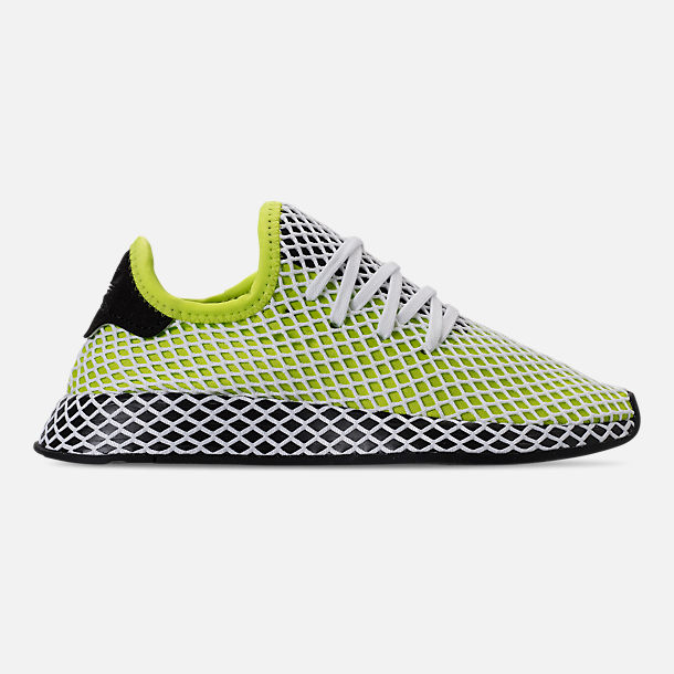 Right view of Kids' Grade School adidas Originals Deerupt Runner Casual Shoes in Semi Solar Slime/Core Black