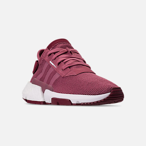 Three Quarter view of Women's adidas Originals POD-S3.1 Casual Shoes in Trace Maroon/Trace Maroon