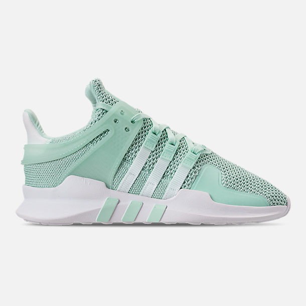 Right view of Women's adidas EQT Support ADV Casual Shoes in Clear Mint/White/Hi-Res Aqua