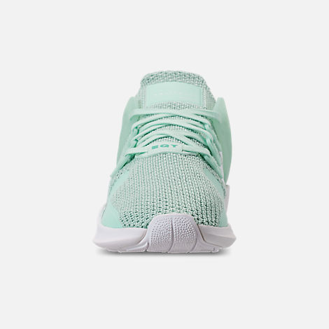Front view of Women's adidas EQT Support ADV Casual Shoes in Clear Mint/White/Hi-Res Aqua