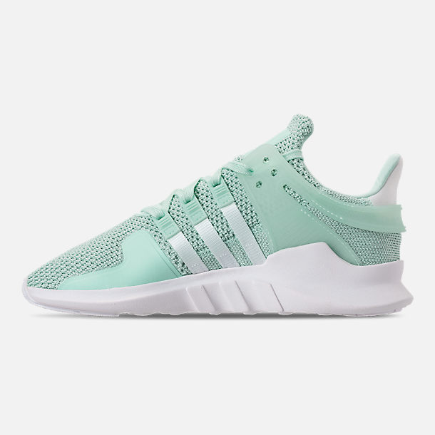 a7290412851b clearance left view of womens adidas eqt support adv casual shoes in clear  mint white ea408