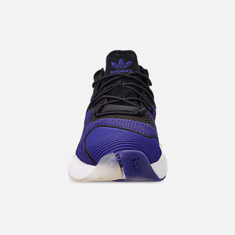 Front view of Men's adidas Crazy BYW I Basketball Shoes in Real Purple/Core Black/Footwear White