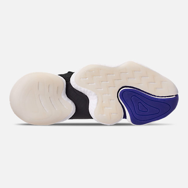 Bottom view of Men's adidas Crazy BYW I Basketball Shoes in Real Purple/Core Black/Footwear White