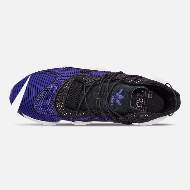 Top view of Men's adidas Crazy BYW I Basketball Shoes in Real Purple/Core Black/Footwear White
