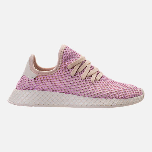 Right view of Women's adidas Originals Deerupt Runner Casual Shoes in Linen/Linen/Clear Lilac
