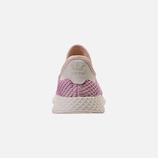 Back view of Women's adidas Originals Deerupt Runner Casual Shoes in Linen/Linen/Clear Lilac