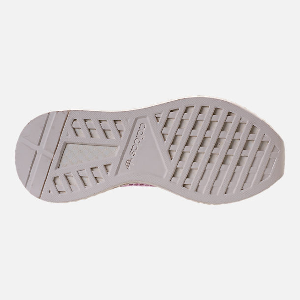 Bottom view of Women's adidas Originals Deerupt Runner Casual Shoes in Linen/Linen/Clear Lilac