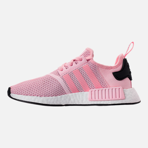60b79848632 Left view of Women s adidas NMD R1 Casual Shoes in Clear Pink White Core