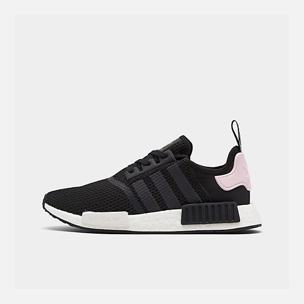 Right view of Women s adidas NMD R1 Casual Shoes in Core Black White Clear 0a44df5b0