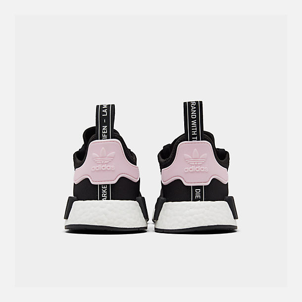 info for 885e8 d987f Left view of Womens adidas NMD R1 Casual Shoes in Core BlackWhiteClear