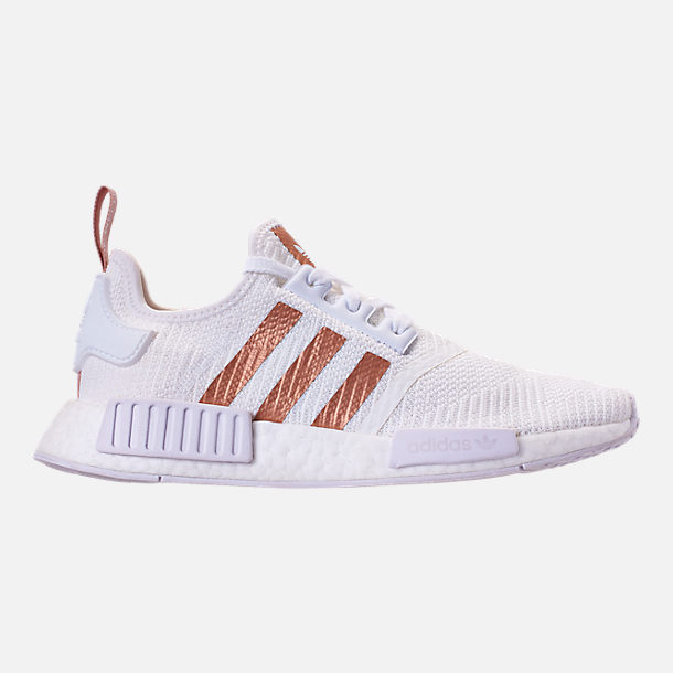 Right view of Women's adidas NMD R1 Casual Shoes in White/Copper
