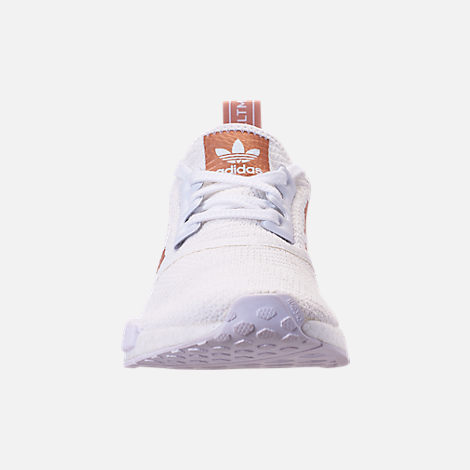Front view of Women's adidas NMD R1 Casual Shoes in White/Copper
