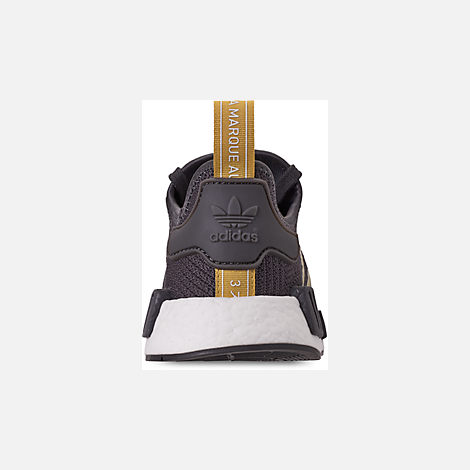 Back view of Women's adidas NMD R1 Casual Shoes in Grey/Gold Metallic/Pyrite