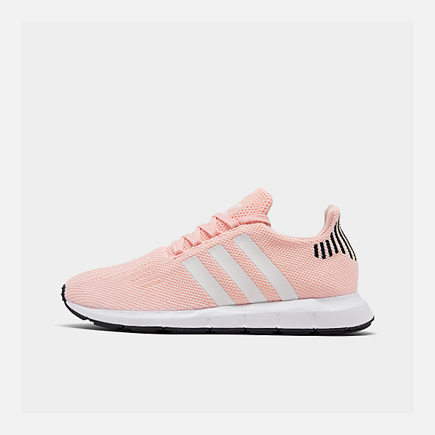 Right view of Boys' Little Kids' adidas Swift Run Casual Shoes in Icey Pink/White/Core Black