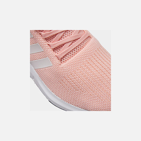 Front view of Boys' Little Kids' adidas Swift Run Casual Shoes in Icey Pink/White/Core Black