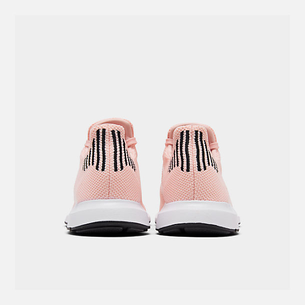 Left view of Boys' Little Kids' adidas Swift Run Casual Shoes in Icey Pink/White/Core Black