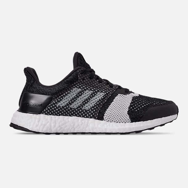 Right view of Men s adidas UltraBOOST ST Running Shoes in Core  Black White Carbon 128b3e3d6