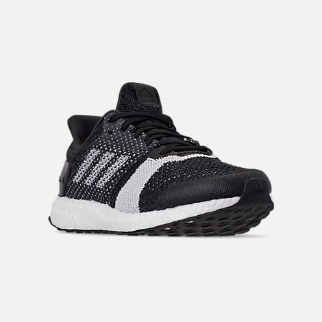 eb250a6a263 Three Quarter view of Men s adidas UltraBOOST ST Running Shoes in Core  Black White