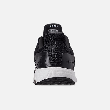 factory authentic 9f8b6 8a294 Back view of Mens adidas UltraBOOST ST Running Shoes in Core BlackWhite Carbon