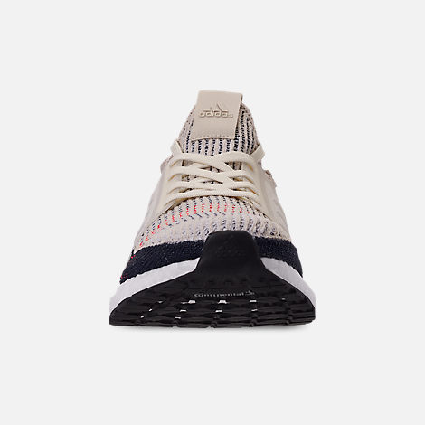 Front view of Men's adidas UltraBOOST 19 Running Shoes in Clear Brown/Chalk White/Footwear White