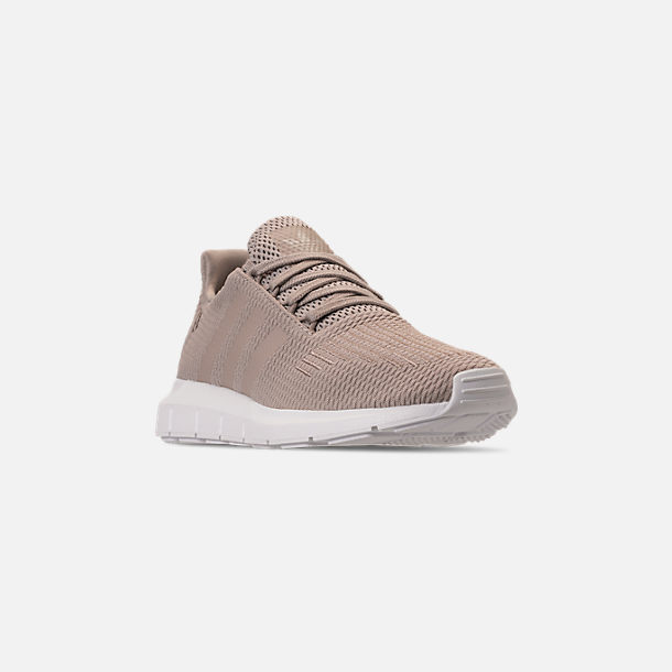 Three Quarter view of Women's adidas Swift Run Casual Shoes in Vapour Grey/Vapour Grey/Footwear White