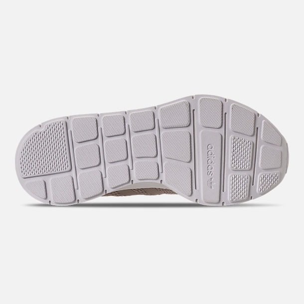 Bottom view of Women's adidas Swift Run Casual Shoes in Vapour Grey/Vapour Grey/Footwear White