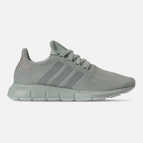 Right view of Women's adidas Swift Run Casual Shoes in Vapour Green/Grey Two/White
