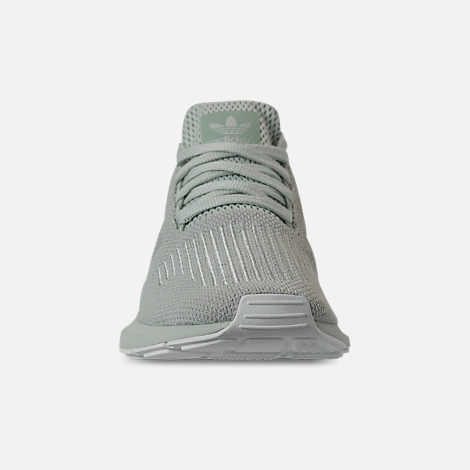 Front view of Women's adidas Swift Run Casual Shoes in Vapour Green/Grey Two/White