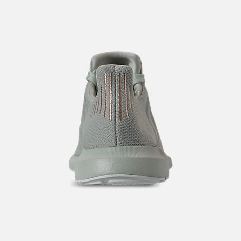 Back view of Women's adidas Swift Run Casual Shoes in Vapour Green/Grey Two/White