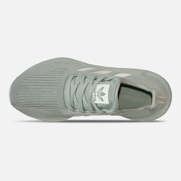Top view of Women's adidas Swift Run Casual Shoes in Vapour Green/Grey Two/White