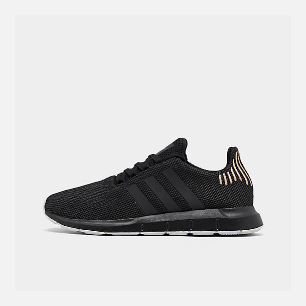 30c161a8c Right view of Women s adidas Swift Run Casual Shoes in Core  Black Carbon White