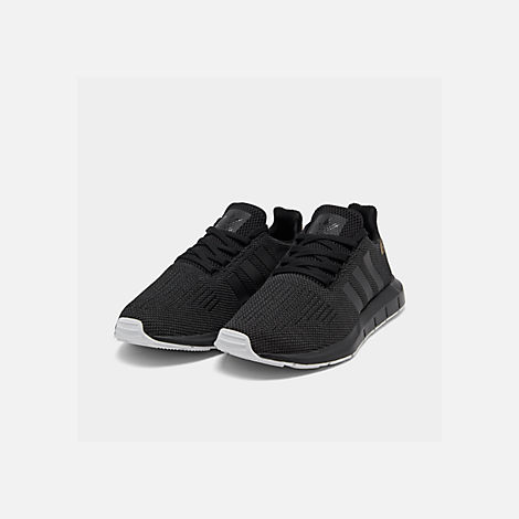 bd8287586 Three Quarter view of Women s adidas Swift Run Casual Shoes in Core Black  Carbon