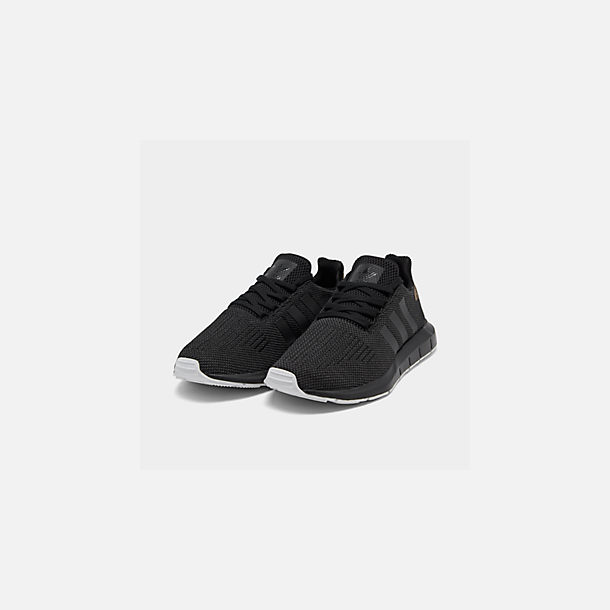 dccfa4ad0 Three Quarter view of Women s adidas Swift Run Casual Shoes in Core  Black Carbon
