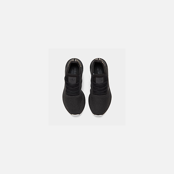 best service 9457f b637f Back view of Women s adidas Swift Run Casual Shoes in Core Black Carbon  White