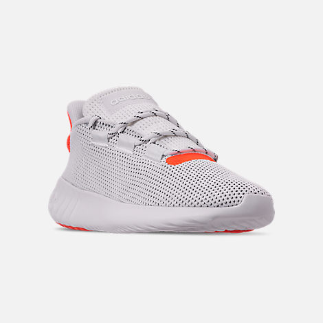 Three Quarter view of Men's adidas Tubular Dusk Casual Shoes in Footwear White/Solar Red/Core Black