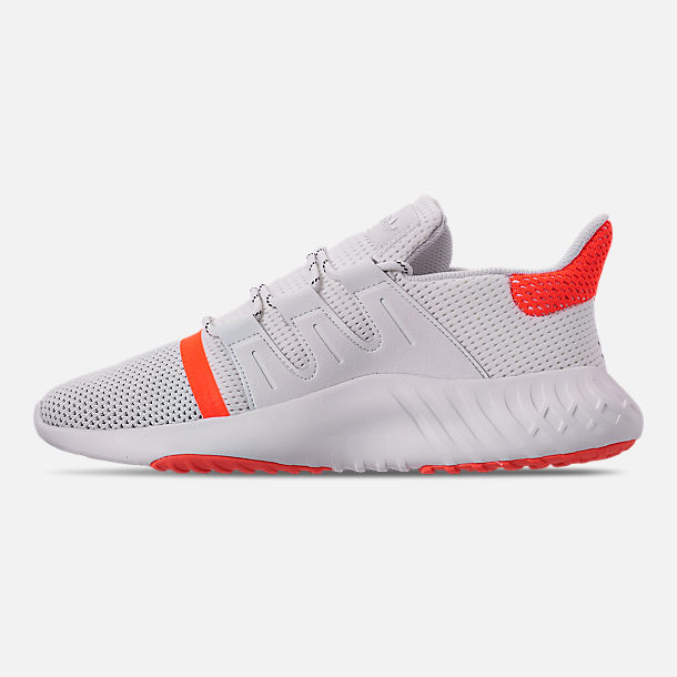 Left view of Men's adidas Tubular Dusk Casual Shoes in Footwear White/Solar Red/Core Black