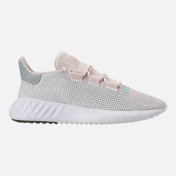 Right view of Women's adidas Tubular Dusk Casual Shoes in Chalk White/Ash Green/White