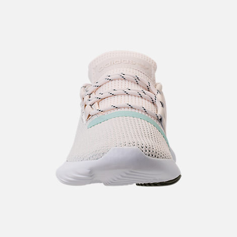 Front view of Women's adidas Tubular Dusk Casual Shoes in Chalk White/Ash Green/White