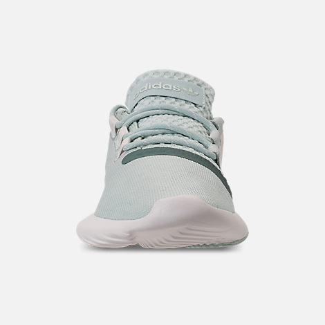 Front view of Women's adidas Originals Tubular New Runner Casual Shoes in Raw Green/Raw Green/Chalk White
