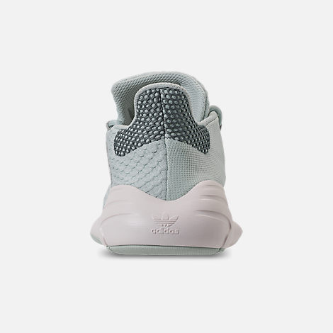 Back view of Women's adidas Originals Tubular New Runner Casual Shoes in Raw Green/Raw Green/Chalk White